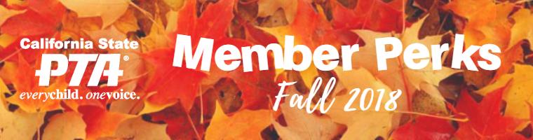 PTA Member Perks – Fall 2018 – MONARCHS PTSA